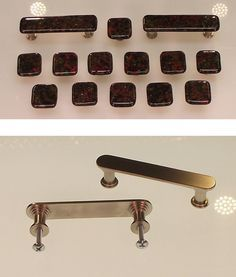 """CHROME CABINET KNOB Stair Stepped Face Drawer Pull Vintage NOS Small 7//8/"""" Dia"""