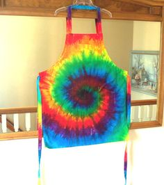 39469f35d9f Rainbow Tie-dye Apron full-length 3 by LittleRainbowsTiedye Tie Dyed