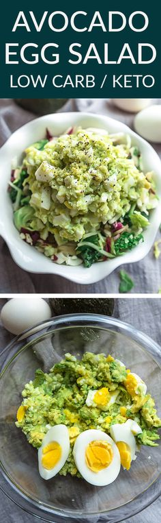 Low Carb Avocado Egg Salad is a healthier twist on the classic favorite and the perfect way to use up your hard boiled eggs. Best of all, it& super creamy and keto friendly. Lunch Recipes, Low Carb Recipes, Salad Recipes, Healthy Recipes, Xmas Recipes, Corn Recipes, Protein Recipes, Healthy Meals, Healthy Egg Salad