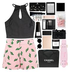 """One more time just move me slow"" by klajus ❤ liked on Polyvore featuring American Retro, Chanel, Eight & Bob, Byredo, Miss Selfridge, Retrò, Holga, Incase, Sephora Collection and Topshop"