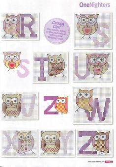 Owls Alphabet 3/3