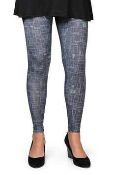 We dig these Borg Leggings because they land smack dab in that middle bit in the Venn diagram of two things we like: Star Trek and circuit boards.