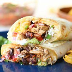 Best Ever 7 Layer Chicken Burritos Recipes Using Rotisserie Chicken, Easy Chicken Recipes, Mexican Food Recipes, Dinner Recipes, Ethnic Recipes, Mexican Desserts, Drink Recipes, Best Burrito, Layer Chicken