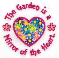 The Garden is a Mirror of the Heart - 4x4 | What's New | Machine Embroidery Designs | SWAKembroidery.com Starbird Stock Designs