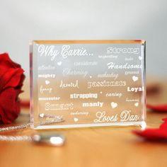 Engraved Why I #Love You Keepsake Block