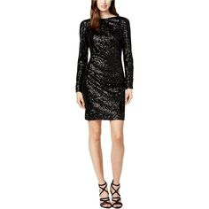 4594a2b4e694 $208 Vince Camuto Black Cowl-back Sequin Dress Size 4 New #fashion #clothing
