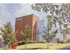 Southern Illinois University Edwardsville Engineering LIMITED EDITION Pen and Ink and Watercolor Art Print Illustration - Graduation Gift by CollegeArtStoeckley on Etsy