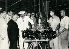 Getúlio Vargas visita a Fábrica Nacional de Motores, 1945. Rio de Janeiro (RJ). (CPDOC/ CDA Vargas)