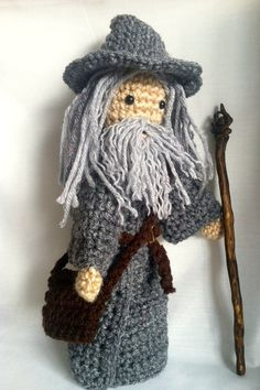 Crochet Gandalf Doll  The Lord of the Rings by KagooliShop on Etsy, $30.00
