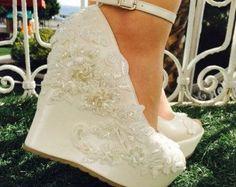 Boda zapatos de boda zapatos de Novia de cuña por KILIGDESIGN