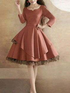 This is the epitome of my ideal style. So elegant and classy. -----Lace Dress Pink Dress Long Sleeves Vintage Dress Black Dress Little Tea Dress Beautiful Prom Dress Fashion Original Design Beautiful Prom Dresses, Pretty Dresses, Beautiful Outfits, Gorgeous Dress, Pink Dress, Lace Dress, Dress Long, Dress Black, Long Sleeve Vintage Dresses