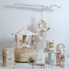 Σετ βάπτισης κορίτσι Carousel, Christening, Candle Holders, Chandelier, Ceiling Lights, Candles, Park, Children, Beautiful
