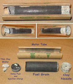 How to make black powder model rocket engines reverse engineered from Estes rockets. Sugar Rocket, Water Rocket, Diy Rocket, Rocket Kits, Survival Weapons, Survival Prepping, Survival Skills, Survival Equipment, Homemade Fireworks