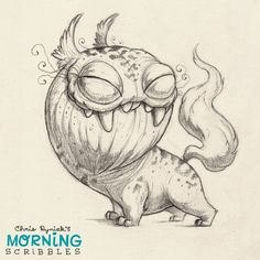 Snaggly teefs... #morningscribbles