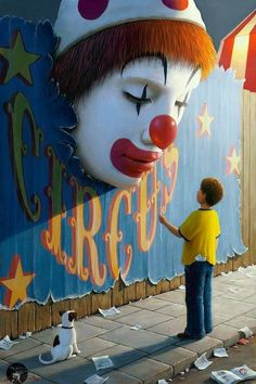 Now you just know that clown's eyes pop wide open, causing all passersby to shit their pants in horror and fright