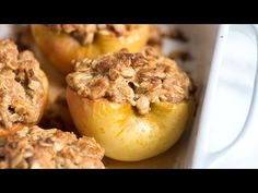 Apple Desserts Recipes Healthy : Easy Baked Cinnamon Apples Recipe - How to Make Baked Apples at Home - Apple Desserts Recipes Healthy Video Apple Desserts Recipes Healthy For the full Easy Baked Cinnamon Apples recipe with ingredient amounts and Apple Dessert Recipes, Apple Crisp Recipes, Köstliche Desserts, Baking Recipes, Holiday Recipes, Delicious Desserts, Green Apple Recipes, Baked Apple Dessert, Fluff Desserts