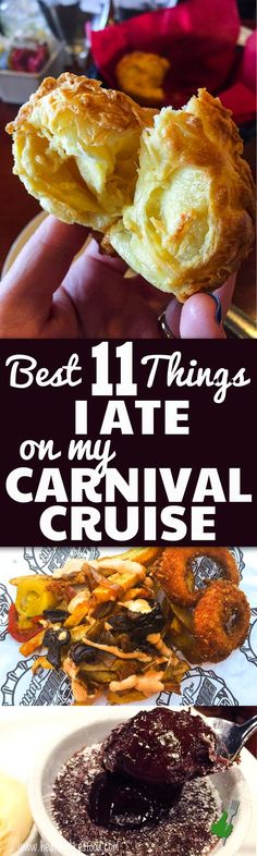 Here are the top 11 best things that I ate on my Carnival Cruise. You don't want to miss these on your next cruise!!