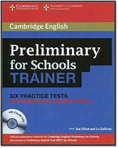 [PDF+3CD] Cambridge English Preliminary for Schools Trainer Six Practice Tests and Teacher Notes | Sách Việt Nam