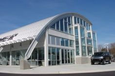 Steel Master curved metal roof system