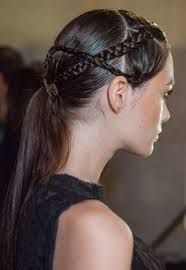 2014 Hair Trends - Braided Ponytail for Women - Pretty Designs Low Ponytail Hairstyles, Spring Hairstyles, Braided Ponytail, Straight Hairstyles, Cool Hairstyles, Braid Hair, Twisted Braid, Low Chignon, Braided Buns