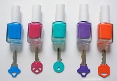Use nail polish to differentiate between your keys.