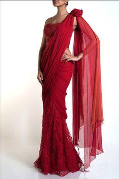 Lace sari = sari on crack