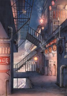 廃工場の酒場路地 / Artist: http://www.pixiv.net/member.php?id=810305