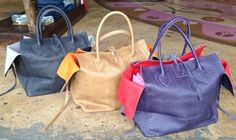 Pressed leather bags by Let & Her. $848