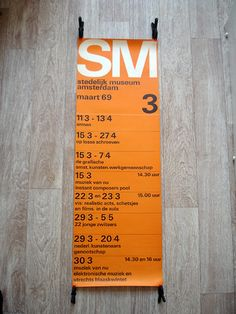 Stedelijk poster – 1969 by insect54, via Flickr