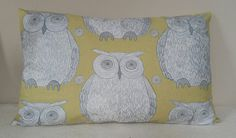 Owl Cushion - - Blendworth Fabric by Kushions on Etsy Owl Cushion, My Etsy Shop, Cushions, Handmade Gifts, Throw Pillows, Curtains, Patterns, Creative, Fabric