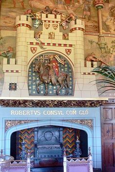 Cardiff Castle Banqueting hall Fireplace.