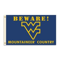 Let it be known that your friends are entering Mountaineers Country. This collegiate banner flag is decorated with the NCAA mascot surrounded by a warning in bold West Virginia colors. This officially licensed house and garden flag is made of durable polyester and is designed with 2 heavy-duty metal grommets so it is easy to hang. Perfect for a home or office. FEATURES  Made of Heavy-Duty 2-Sided Polyester Colorfast Inks to Prevent Fading Metal Grommets for Easy Hanging Machine Washable…