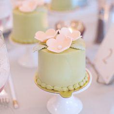 Pink Flower Mini Cakes