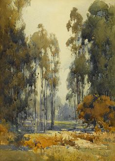wetreesinart: Percy Gray, View Through the Trees, nd, aquarelle sur papier, 13 3/4 x 9 3/4 in.