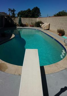 Recycled this 17,000 gallon swimming pool last night.
