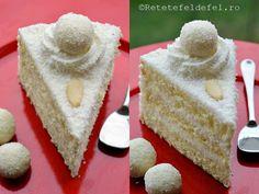 tort-raffaello Food Cakes, Vanilla Cake, Coco, Cake Recipes, Good Food, Food And Drink, Sugar, Cookies, Chocolate