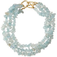 Kenneth Jay Lane Three-Row Glass Opal Beaded Necklace ($99) ❤ liked on Polyvore featuring jewelry, necklaces, polished g, opal necklace, layered necklace, opal bead necklace, multi strand chain necklace and multi strand beaded necklace