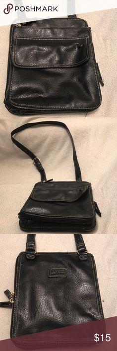 Relic Grand Quality black sling bag Black leather sling compact bag Bags Shoulder Bags
