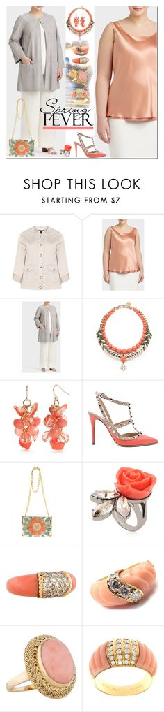 """""""Spring Date: Pretty Plus-Size Style"""" by yours-styling-best-friend ❤ liked on Polyvore featuring Zhenzi, Lafayette 148 New York, Ellen Conde, Kim Rogers, Valentino, Rafé New York, Mawi, Van Cleef & Arpels, Tiffany & Co. and plus size clothing"""