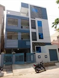elevations of independent houses Building Elevation, House Elevation, Front Elevation Designs, Independent House, Puja Room, Iron Gates, Gate Design, New Home Designs, Living Room Designs