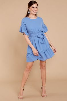 Dresses - Women's Outfits for Sale - Shop Red Dress Boutique – Page 5 Beautiful Dresses, Nice Dresses, Summer Dresses, Shop Red Dress, Light Blue Dresses, Chiffon Dress, Inverted Triangle, 2020 Vision, Clothes For Women