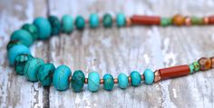 20 Off VALENTINE SALE Genuine Faceted Turquoise by Cheshujewelry, $45.00