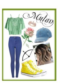 """""""Mulan"""" by mali-likes ❤ liked on Polyvore featuring Roberto Cavalli, Converse, Topshop, Anne Sisteron and Mudd"""