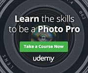 Save on Photography courses at Udemy