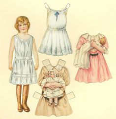 Antique Paper Doll: Sunshine Biscuit Company - Clothes & Baby Dolls