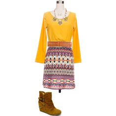 """""""Amazing Aztec Outfit"""" by thenestboutique on Polyvore"""