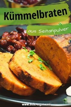 Seitan - Kümmelbraten - Rezept - perfekt für ein tolles Fest! #kümmelbraten #rezeptevegan #rezept #vegan #veganleben #seitan #bratenvegan Was Ist Seitan, Cornbread, Baked Potato, Veggies, Potatoes, Baking, Ethnic Recipes, Food, Vegane Rezepte