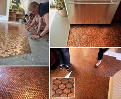 Diy penny flooring guide floors pinterest penny flooring diy penny floor diy diy ideas diy crafts do it yourself penny floor solutioingenieria Image collections