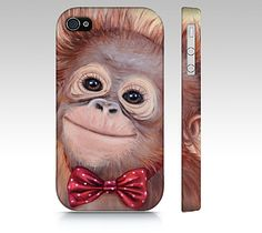 Monkey phone case for iPhone 4/ 4S 5/ 5S Samsung by MimoCadeaux, $35.00
