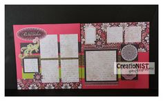 layout by Michelle Nist using CTMH Ivy Lane paper.... (her pre-cut kit layout 1)
